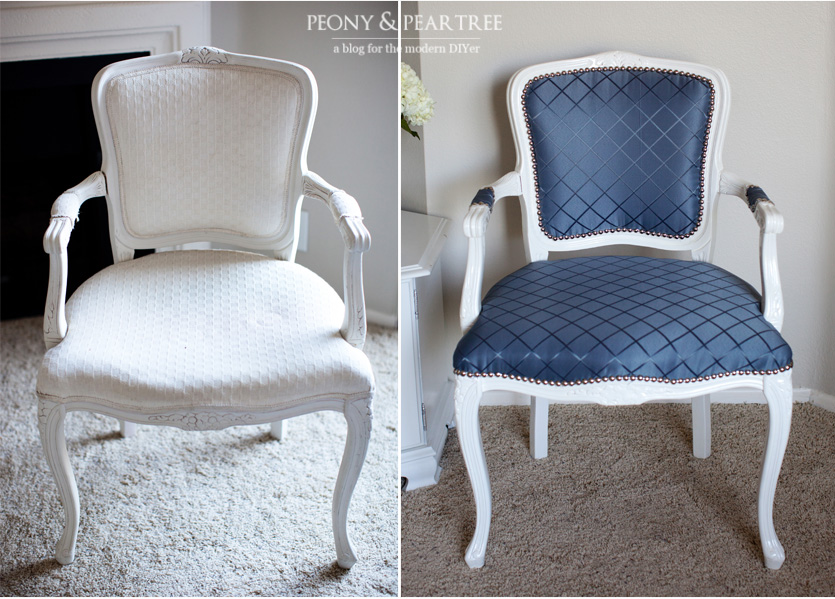 Diy Reupholstered Craigslist Chair Using Curtains