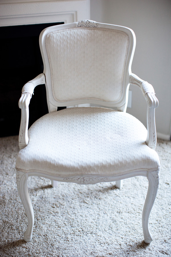 Diy Reupholstered Craigslist Chair Using Curtains Melodrama