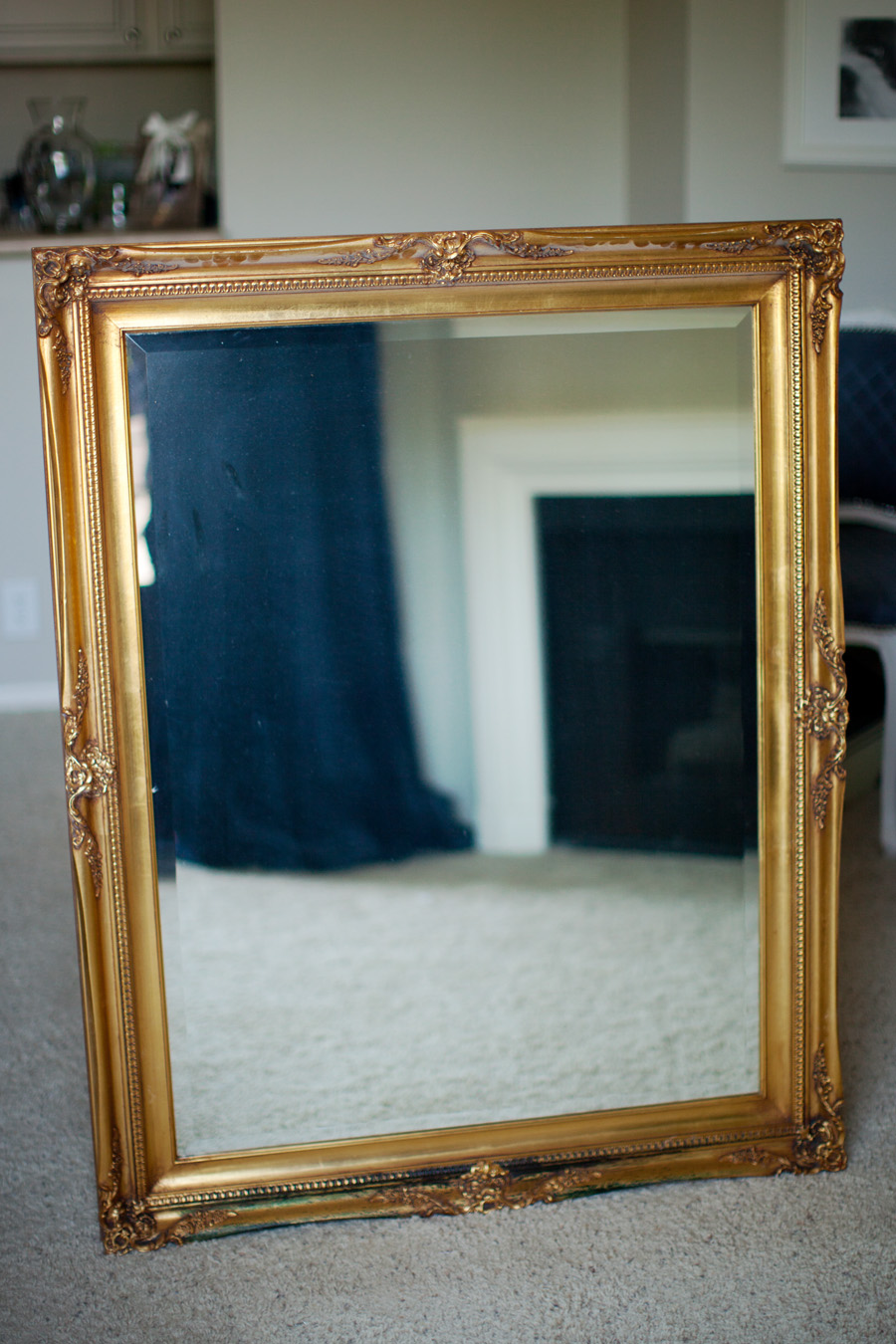 Diy Mirror Makeover Faux Finishing With Metallic Paints Melodrama