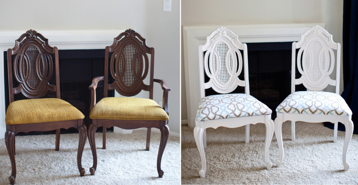diy dining chair makeover dining room projects furniture makeovers melodrama. Black Bedroom Furniture Sets. Home Design Ideas
