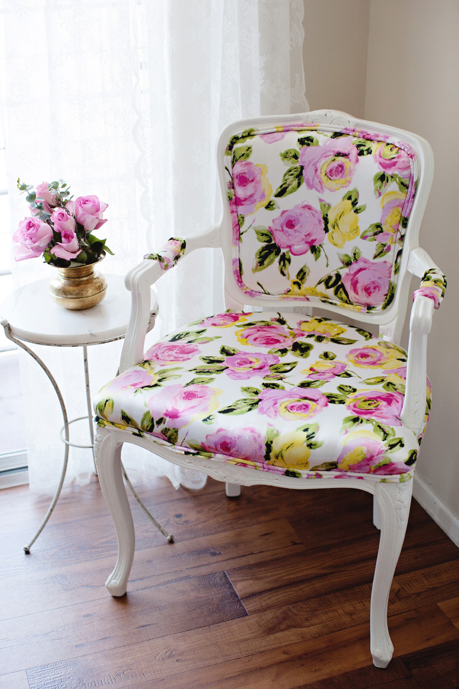 DIY Floral Chair Upholstery ...