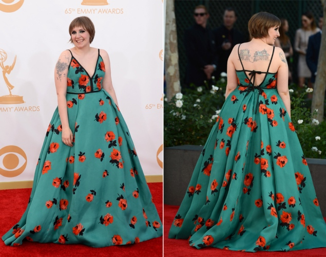 Lena Dunham 2013 Emmy Awards