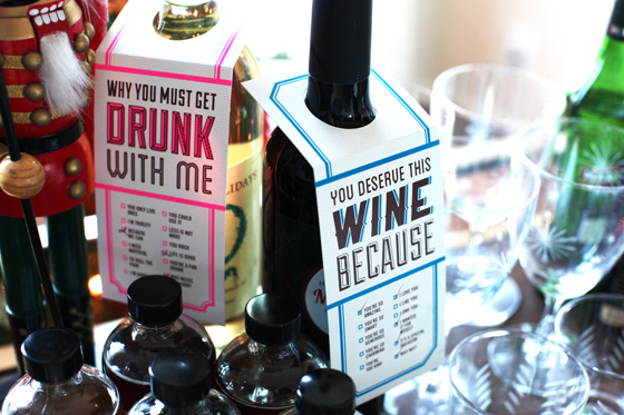 Knock Knock Wine Tags