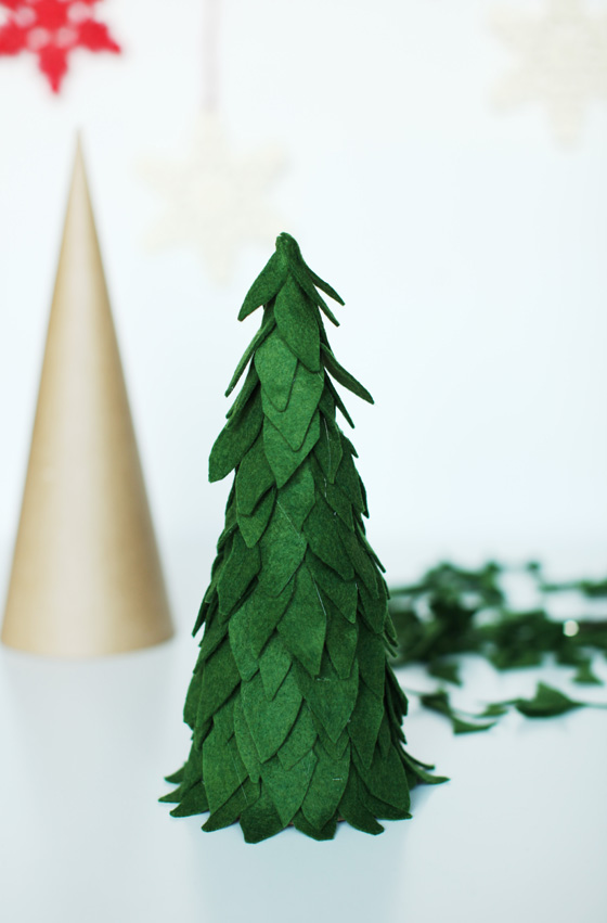 Felt Christmas Trees DIY