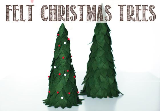 Felt Christmas Trees DIY