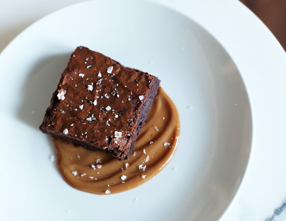Salted Brownies with Dulce de Leche