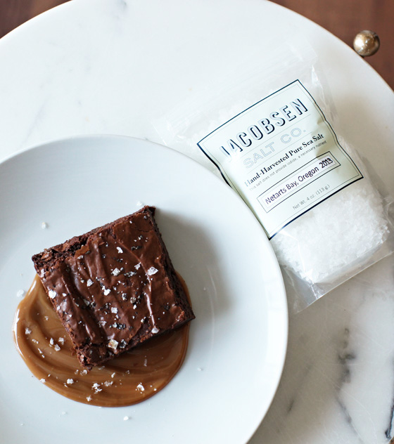 Salted Brownies Dulce de Leche