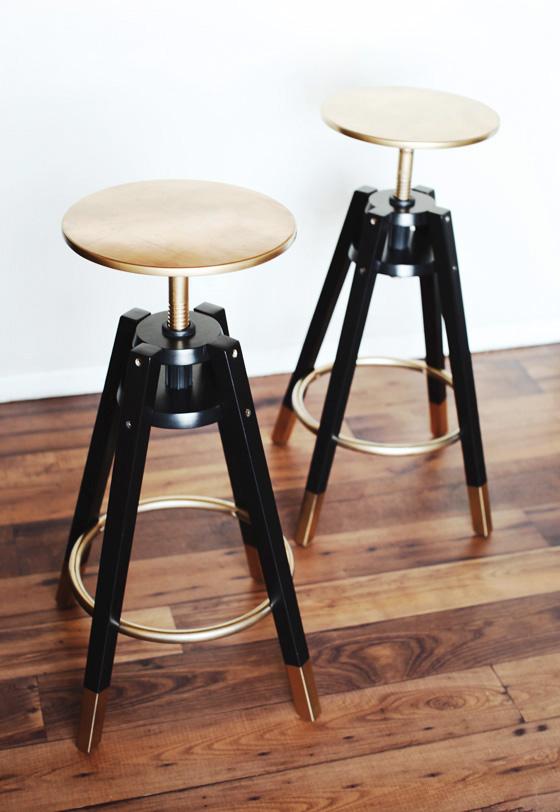 Diy dalfred ikea bar stools makeover ikea hack melodrama - Tabouret bar pliant ikea ...