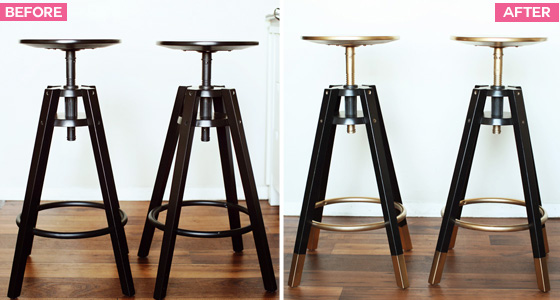 diy dalfred ikea bar stools makeover ikea hack melodrama