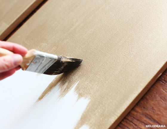 DIY Gold Canvas Art