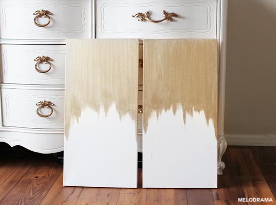 DIY Gold Canvas Art
