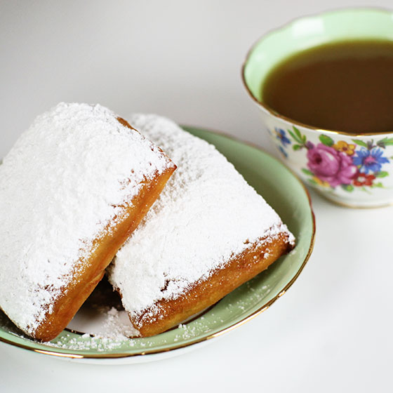 Beignets with Bourbon Butter Sauce