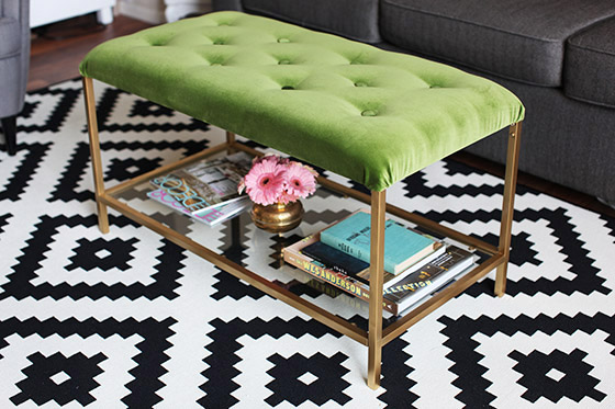 Beau DIY: IKEA VITTSJÖ Table Turned Chic Cocktail Ottoman