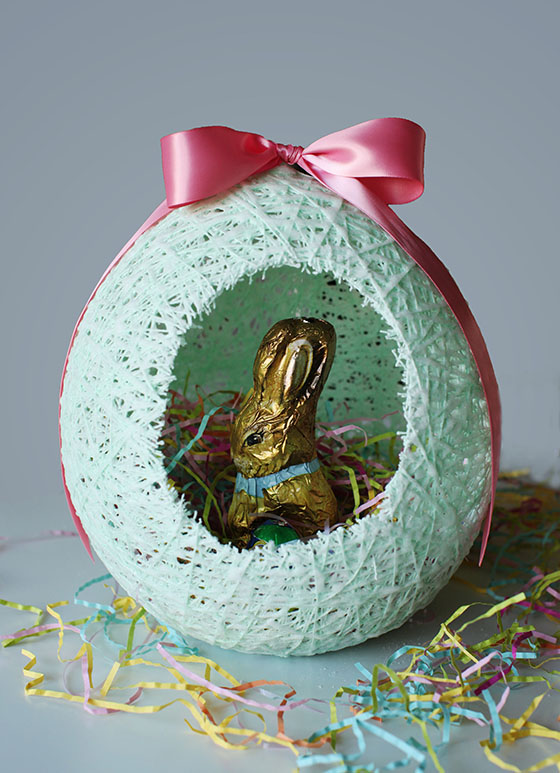 Sugar String Easter Egg Baskets Melodrama