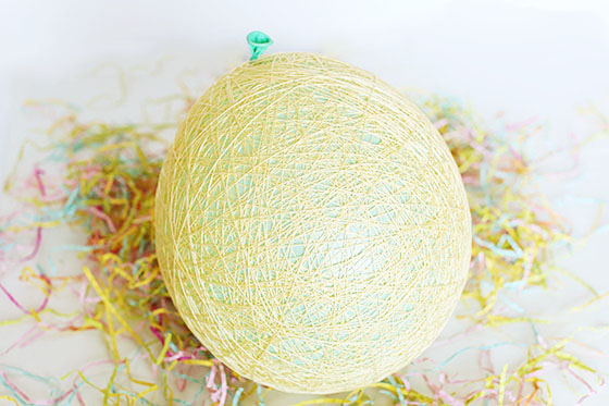 Make Easter baskets with sugar, water, and string!