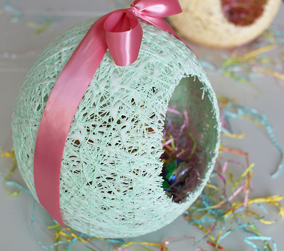 Sugar String Easter Eggs Tutorial