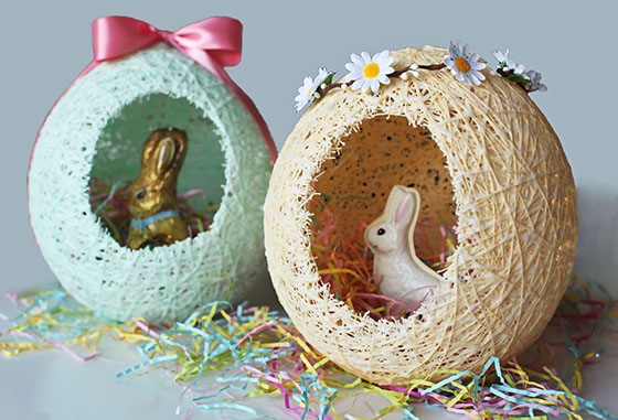 Sugar String Easter Eggs