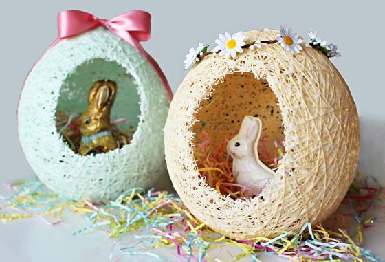 Sugar String Easter Eggs - Ballons, string, sugar, and water