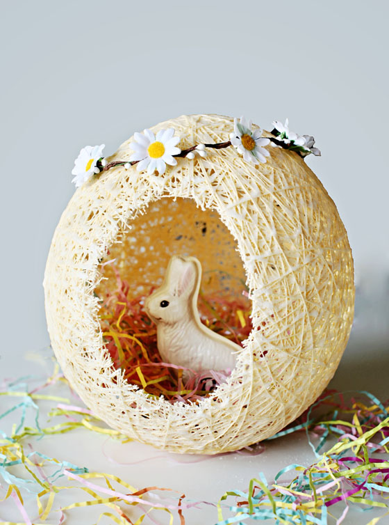 DIY Sugar String Easter Eggs