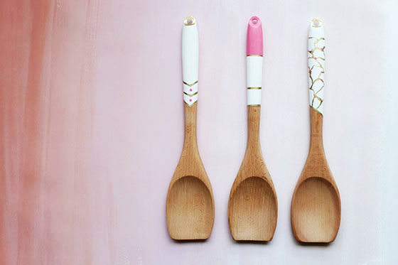 DIY Hand Painted Wooden Spoons