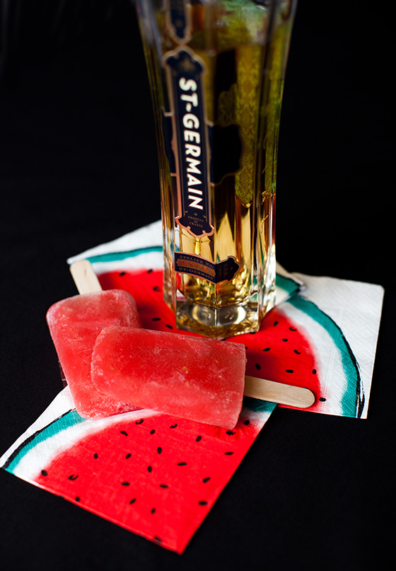Watermelon St. Germain Vodka Boozesicle