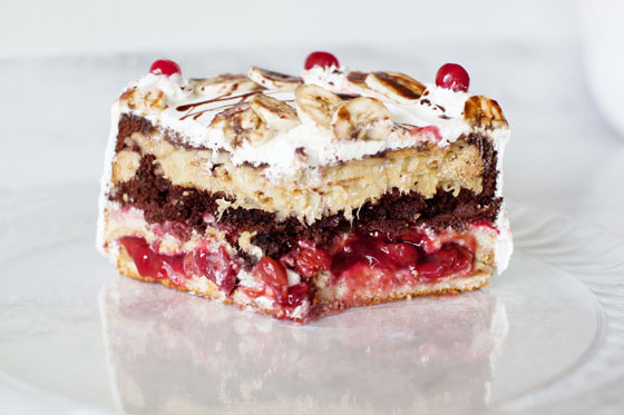 Banana Split Pie Cake