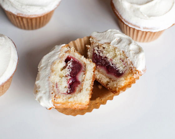 Pie filled cupcakes!
