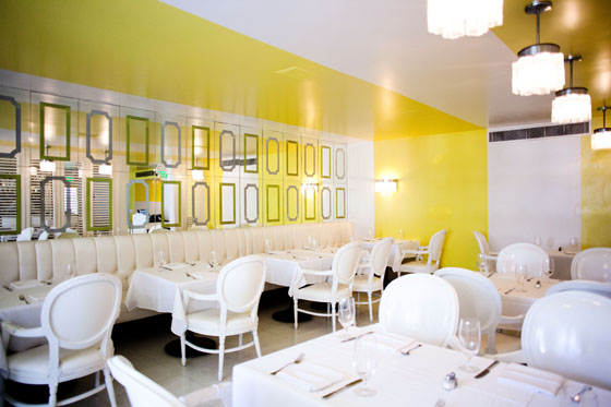 Citron Restaurant Palm Springs. Designed by Kelly Wearstler