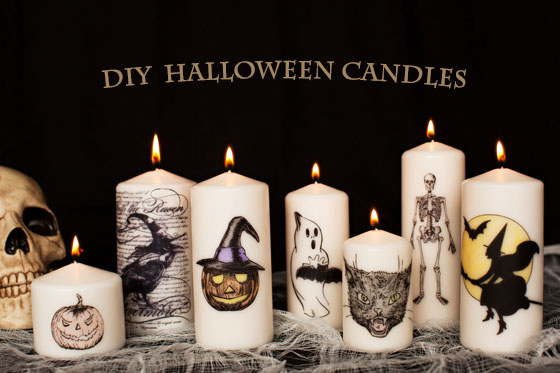 Diy How To Make Your Own Decorative Halloween Candles