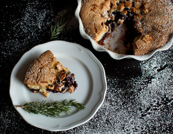 Concord Grape, White Balsamic, Rosemary Spoon Cake