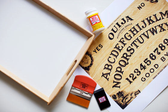 DIY OUIJA BOARD TRAY