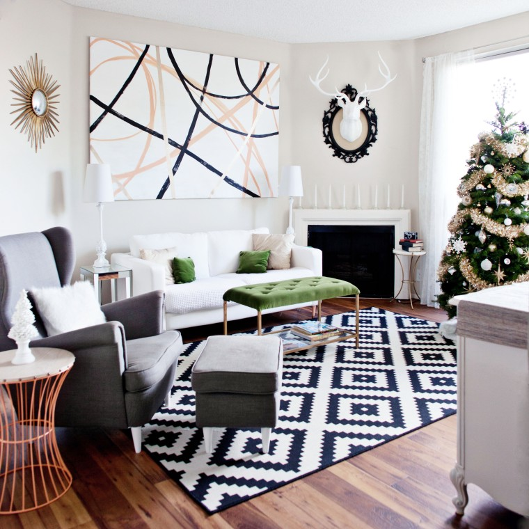 Christmas at the home of blogger Krys Melo of Melodrama