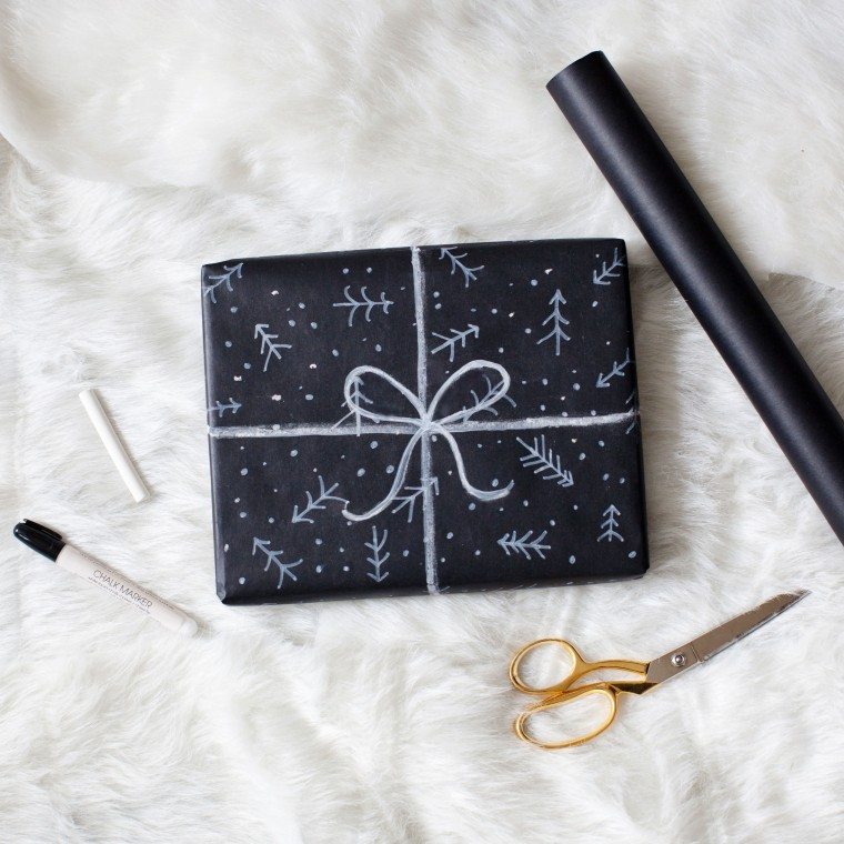 DIY Chalkboard Wrapping Paper!!