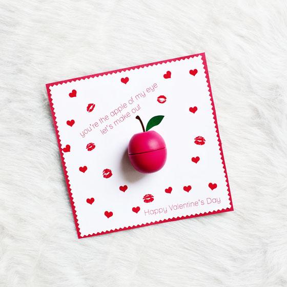 EOS Balm Apple Valentine Printable