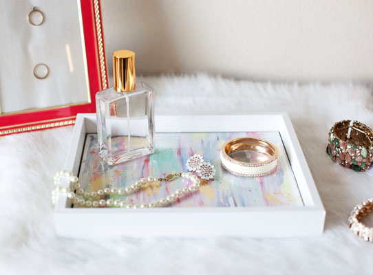 DIY Decorative tray made from a basic picture frame