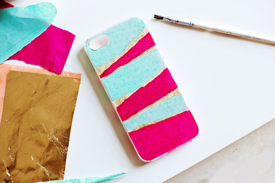 DIY Tissue Paper Phone Case #12monthsofmartha