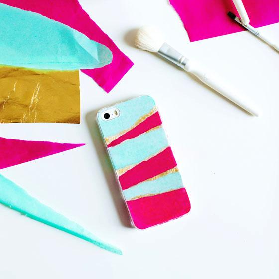 DIY Tissue Paper Phone Case #12monthsofmartha