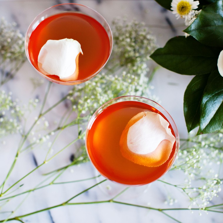 Veronica Rose Recipe - aperol, rose, and sparkling wine