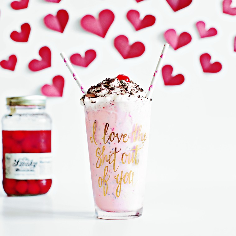 Moonshine Cherry Chocolate Vanilla shake