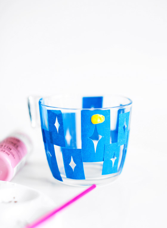 DIY Glass Paint Stenciling