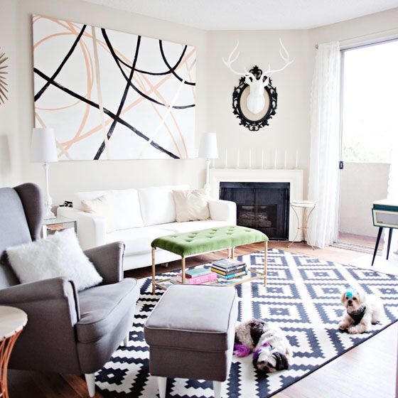 The LA Apartment of Melodrama blogger Krys Melo