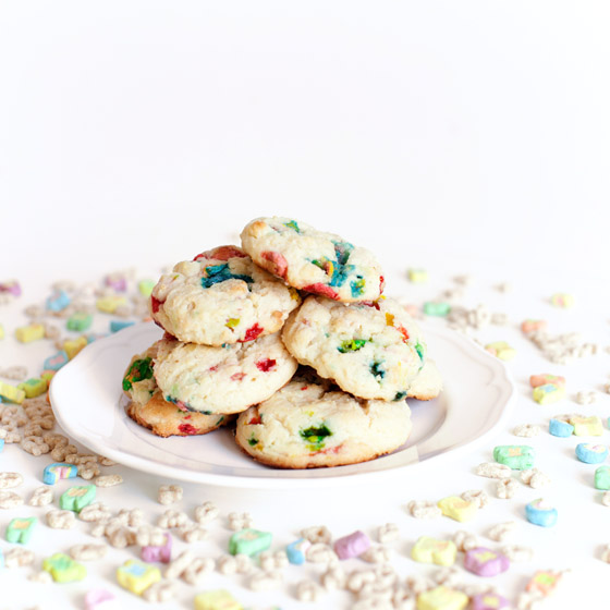 Lucky Charms Cake Mix Cookies