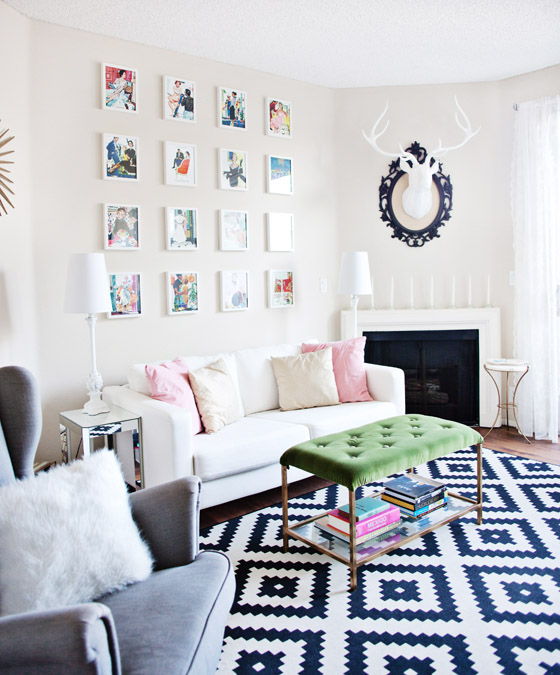 Vintage Gallery Wall from Melodrama blogger LA Apartment
