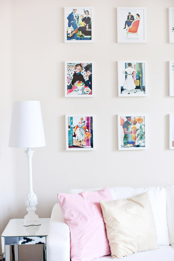 Vintage Illustration Gallery Wall