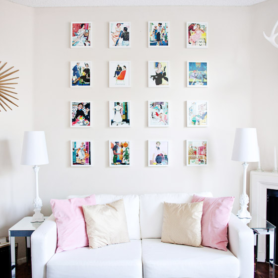 Vintage Illustration Gallery Wall from Melodrama