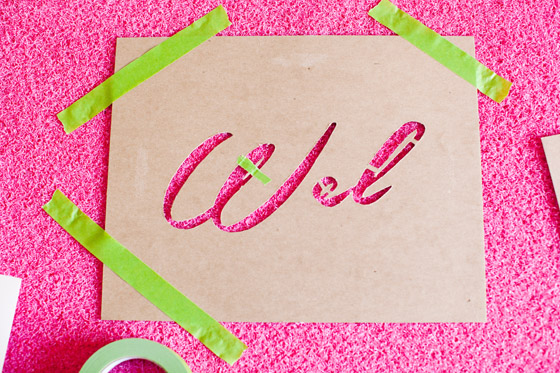 DIY Stenciled Welcome Mat Tutorial
