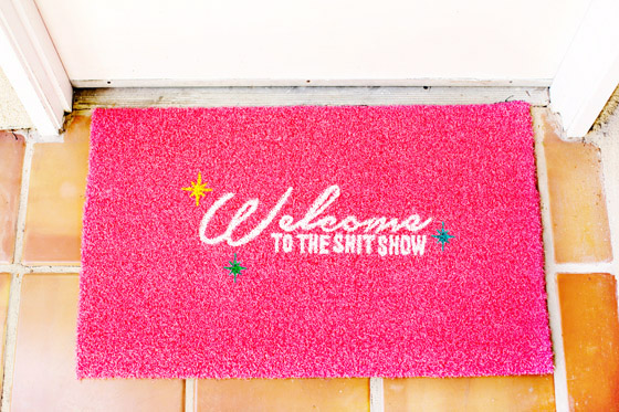 DIY Stenciled Welcome Mat