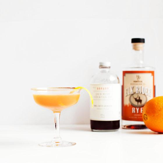 Classic New York Cocktail Recipe - Rye, Lemon, Grenadine, orange peel, and sugar