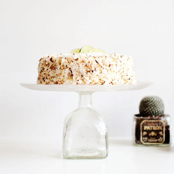 DIY Patron Bottle Cake Stand