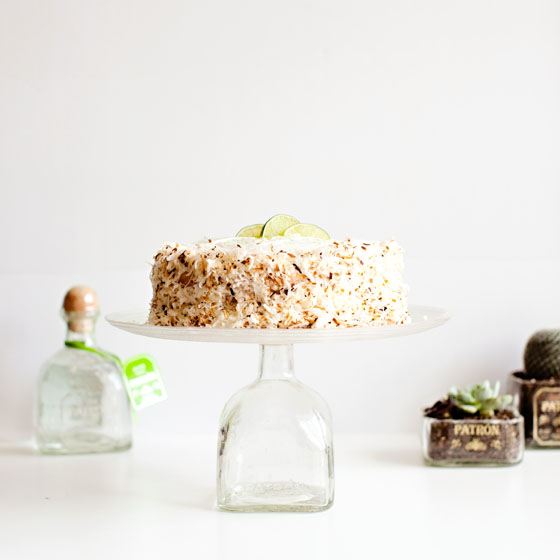Coconut Lime Tequila Cake Recipe via Melodrama